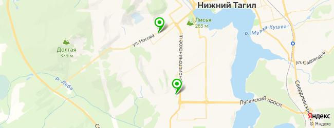 магазин турбин на карте Нижнего Тагила
