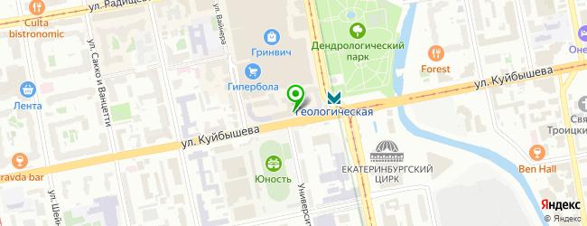 Сервисный центр ТехноГуру на метро Геологическая — схема проезда на карте
