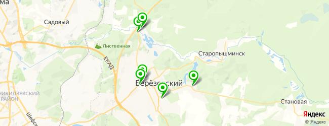 баня на карте Березовского