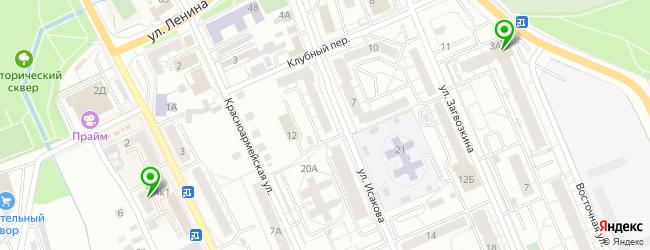 женский фитнес-клуб на карте Березовского