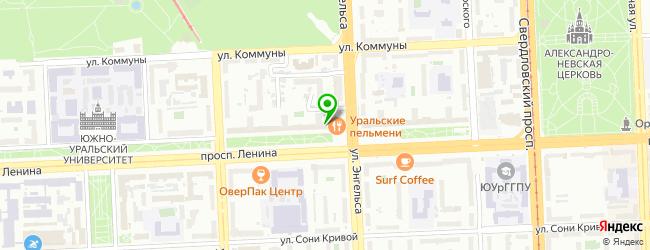 Ресторан Уральские пельмени — схема проезда на карте