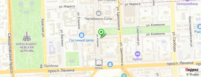 Ресторан Журавлина — схема проезда на карте