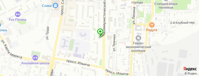 Ресторан Космо — схема проезда на карте