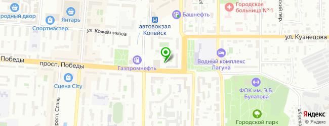Автомагазин Кузов — схема проезда на карте