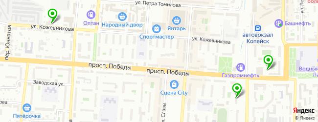 магазин автоэмалей на карте Копейска