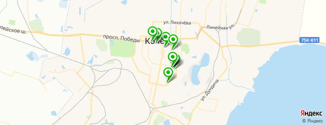 фитнес-клубы на карте Копейска