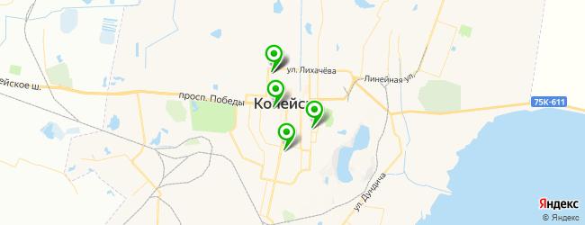спортивные секции на карте Копейска