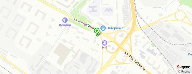 Спортивно-оздоровительный комплекс Рубин — схема проезда на карте