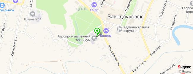 техникумы на карте Заводоуковска