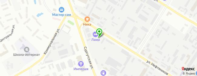 Автомойка на ул. Нефтяников 11Б — схема проезда на карте