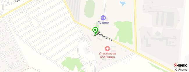 магазин шин и дисков на карте Лузино