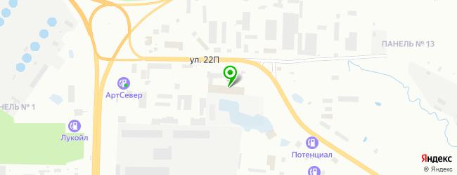 Нижневартовский автоцентр — схема проезда на карте