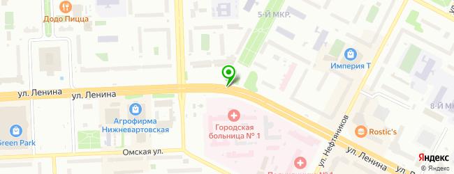 кафетерий на карте Нижневартовска