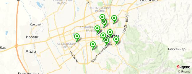 модельное агентство на карте Алматы