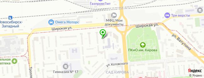 Общежитие Новосибирский архитектурно-строительный колледж — схема проезда на карте