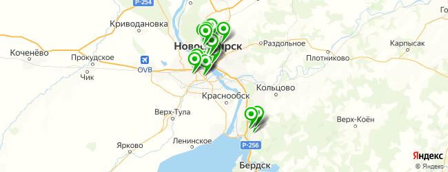обменный пункт на карте Новосибирска