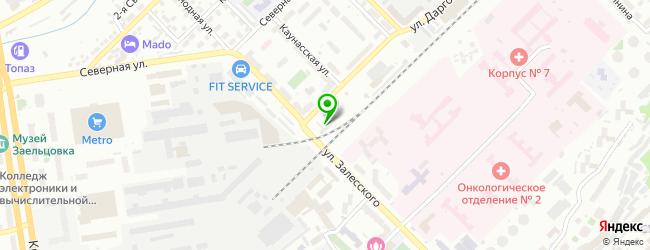 Установочный центр Автодот — схема проезда на карте