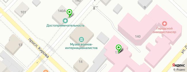 онкодиспансер на карте Бийска