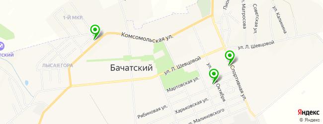 шиномонтаж на карте Бачатского