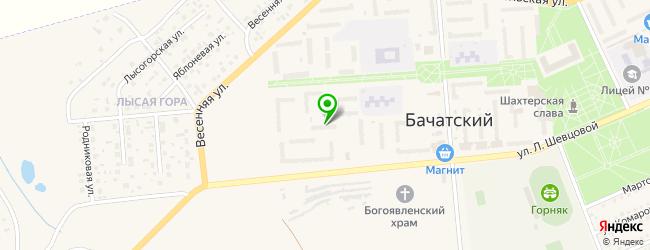 магазин запчастей на карте Бачатского