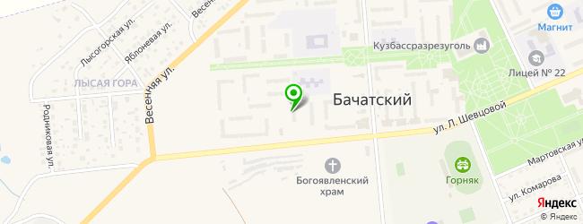 тренажерные залы на карте Бачатского