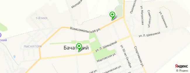 гранитная мастерская на карте Бачатского