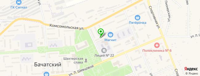 отделения Почты России на карте Бачатского