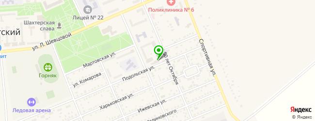 автомойка на карте Бачатского