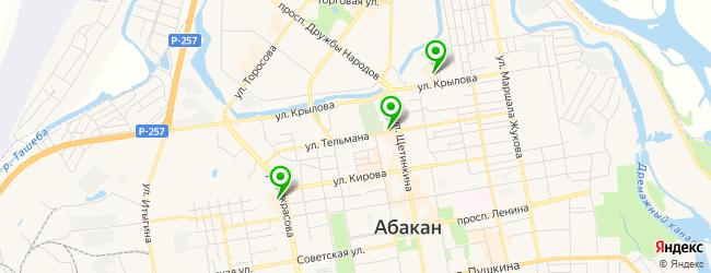 фреш-бар на карте Абакана