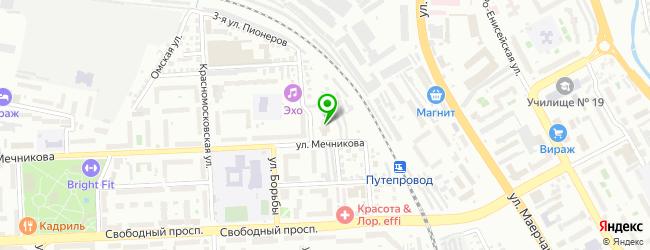 клиника гирудотерапии на карте Красноярска