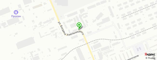 Автосервис на ул. Богдана Хмельницкого 7 — схема проезда на карте