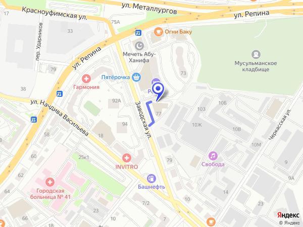 Офис ООО «НТК Интерфейс» на карте города